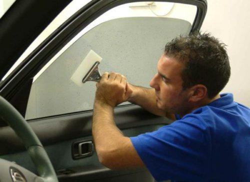 снятие тонировки с лобового стекла
