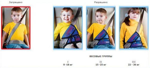 треугольник для ремня безопасности для детей
