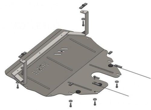 металлическая защита картера двигателя фольксваген поло седан