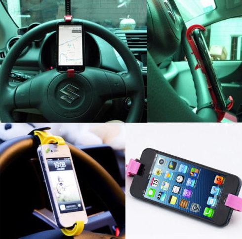 держатель для телефона на руль автомобиля Slip