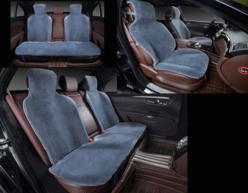 меховая накидка на заднее сиденье автомобиля